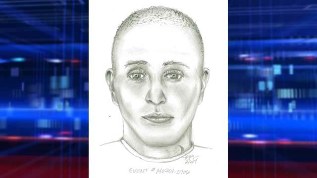 Police sketch of a suspect who shot a victim during a robbery on Saturday, Feb. 1. (Source: LVMPD)