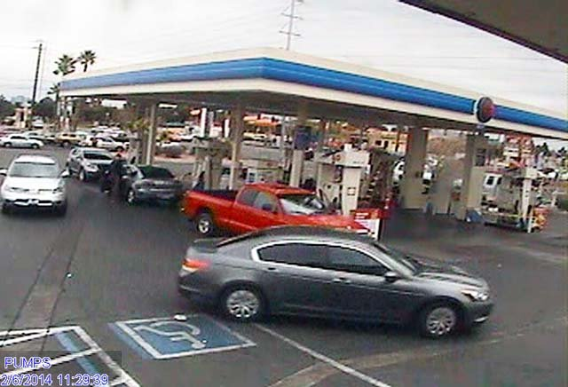 Surveillance still of a vehicle police said was involved in a road rage incident on Feb. 6. (Source: LVMPD)