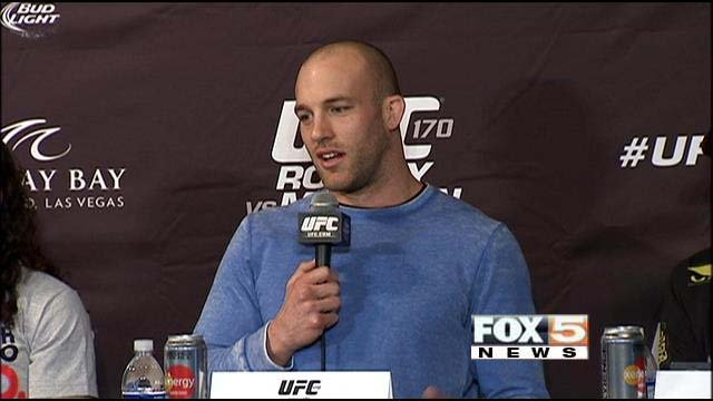 Patrick Cummins appears at a press conference ahead of UFC 170. (FOX5)