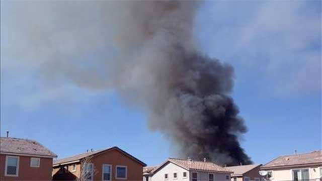A FOX5 viewer snapped this picture of smoke rising over Henderson on Feb. 25, 2014. (FOX5 Report It)