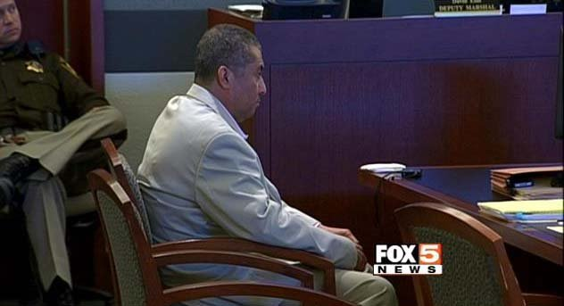 Armando Vergara-Martinez appears in a courtroom at the Regional Justice Center on Tuesday, Feb. 25. (FOX5)