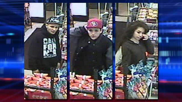 Las Vegas Metro police released photos of three persons of interest as part of a homicide that took place on March 1, 2014. (Source: LVMPD)