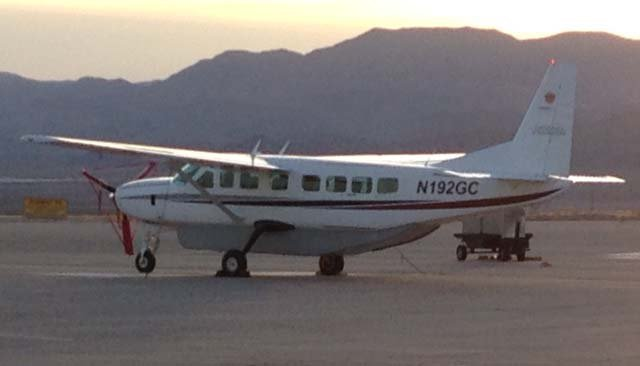 Police say a Cessna Caravan very much like the one pictured here was stolen at Boulder City Municipal Airport on March 2. (Arron Healy/FOX5)