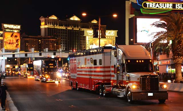 Nascar Hauler Parade Roars Down The Las Vegas Strip Fox5