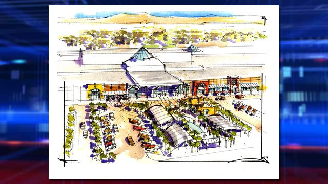 An artist rendering shows the entire development in plans for renovations on the Boulevard Mall. (Source: Sansone Companies)