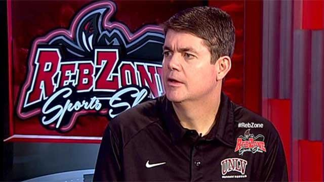 UNLV men's basketball coach Dave Rice appears on FOX5's Reb Zone in this undated photo. (FOX5)