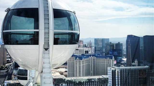 A FOX5 viewer shared this picture taken March 29, 2014, from inside one of the pods attached to the High Roller. (JJ Pavlock/FOX5 Report It)