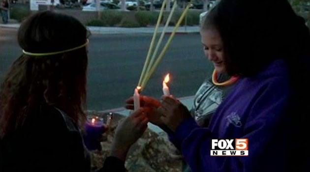 Vigil held for girl hospitalized in fight at Vegas school - FOX5 ...