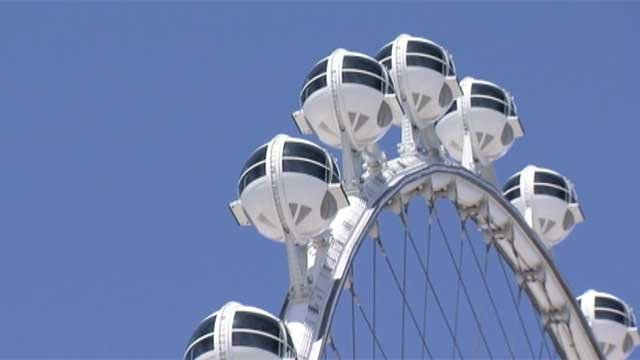 A portion of the High Roller observation wheel appears in this undated file photo. (File/FOX5)