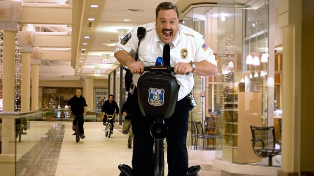 "In this image released by Sony Pictures, Kevin James is shown in the comedy ""Paul Blart: Mall Cop."" (AP Photo/Sony Pictures, Richard Cartwright)"