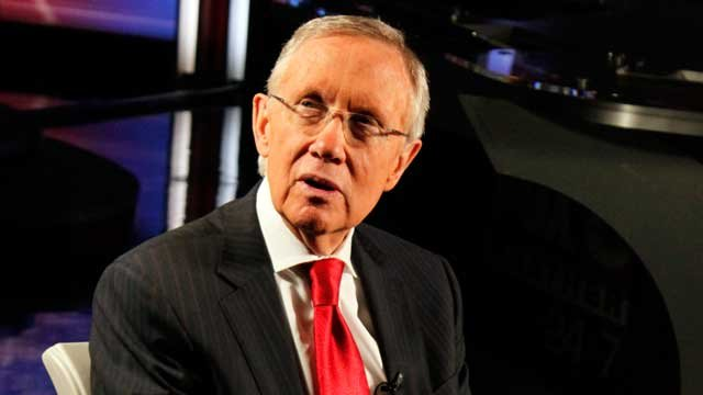 In this undated image, Senate Majority Leader Harry Reid, D-NV, prepares for an interview with FOX5. (File/FOX5)