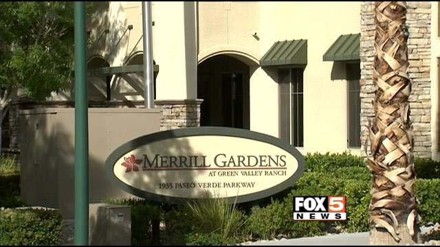 The exterior of the Merrill Gardens at Green Valley Ranch senior living facility is seen on Thursday, April 17. (FOX5)