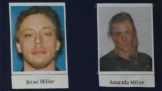 Jared and Amanda Miller are seen in this photos shown at a press conference June 9, 2014. (FOX5)
