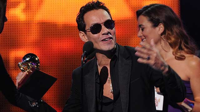 Recording artist Marc Anthony accepts the award for Record of the Year for 'Vivir Mi Vida' onstage at the 14th Annual Latin Grammy Awards at the Mandalay Bay Hotel and Casino on Thursday, Nov. 21, 2013, in Las Vegas. (Photo by Frank Micelotta/Invision/AP)
