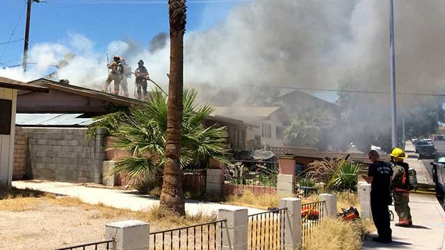 2 Hospitalized In Central Las Vegas House Fire Fox5