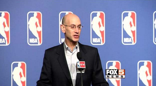 NBA Commissioner Adam Silver addresses the media in Las Vegas on Tuesday, July 15. (FOX5)