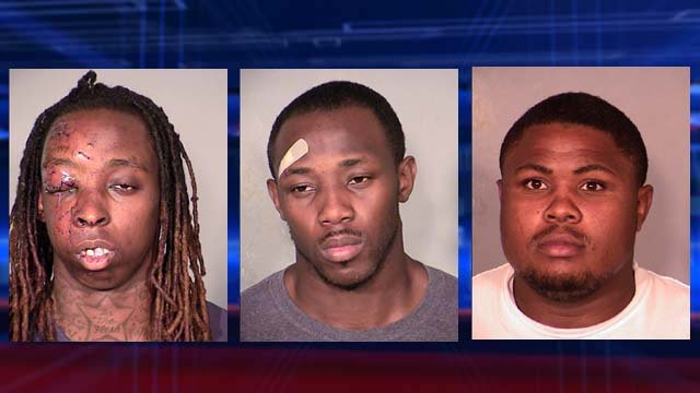 From left to right, Kevin Hall, Justin Loper and Keith Williams. (Source: LVMPD)