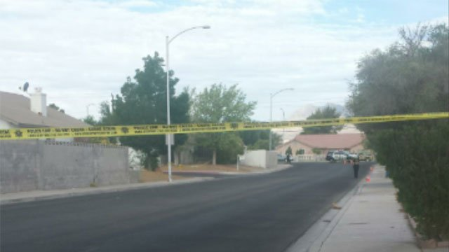 Police tape blocked off a neighborhood near Rancho Drive after a deadly shooting on July 20, 2014. (FOX5)