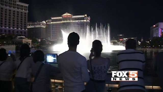 The Fountains of Bellagio appear in this undated file image. (File/FOX5)