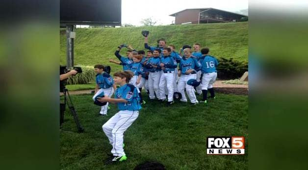 The Mountain Ridge Little League team poses for a photo in Williamsport, PA. (FOX5)
