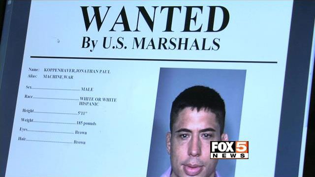 A wanted bulletin was released as part of the search for MMA fighter Jonathan Koppenhaver, also known as 'War Machine.' (FOX5)