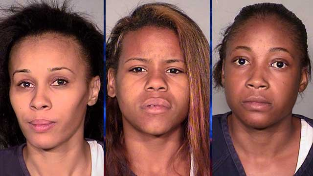 From left to right: Bryanna Warren, Trinity Kennard and Charmella Triggs. (Source: LVMPD)