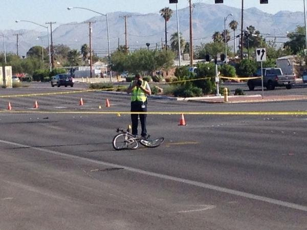 NLVPD: Bicyclist killed after illegally biking through intersection
