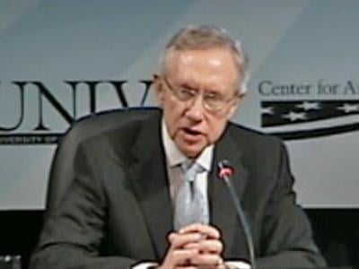 Sen. Harry Reid will hold a lottery to determine who will receive tickets to January's inauguration. (FOX5 FILE)