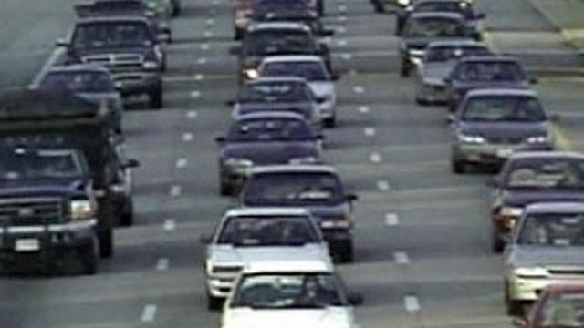 Traffic moves along I-15 in Las Vegas in this undated image. (File/FOX5)