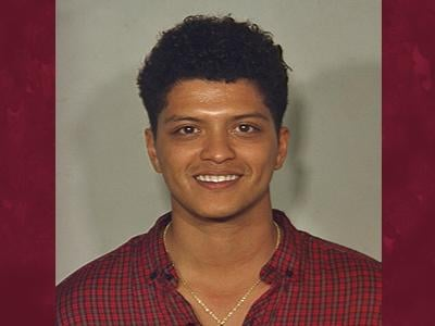"Bruno Mars, pictured in his 2010 Las Vegas Metro booking photo, brings his ""Moonshine Jungle"" tour to the city on Aug. 3. (LVMPD/FILE)"