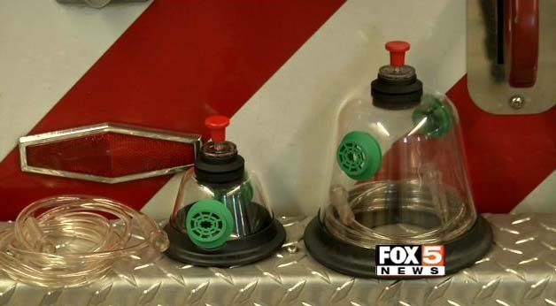 Pet oxygen masks used by the North Las Vegas Fire Department. (FOX5)