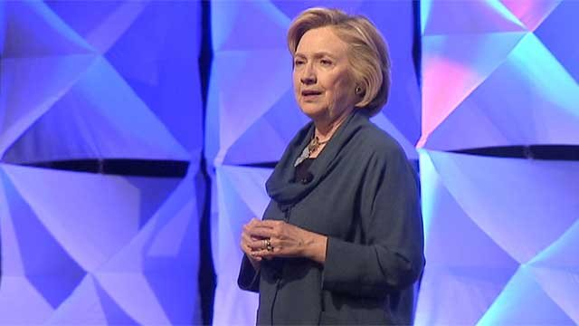 Former Secretary of State Hillary Clinton speaks during a previous engagement at the Mandalay Bay resort-casino in April 2014. (FOX5)