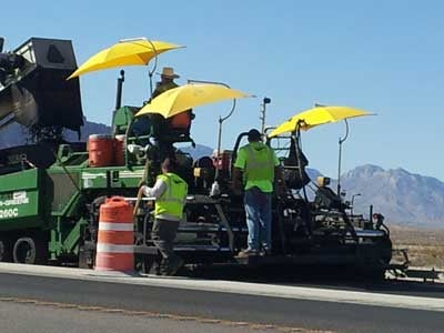 Construction workers are shown on a sunny day in Las Vegas. (File)