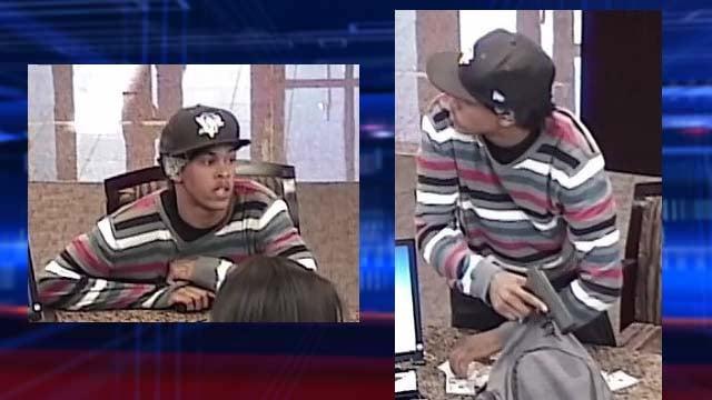 Las Vegas police seek man who robbed bank at gunpoint