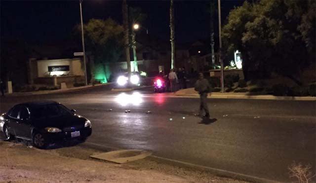 Las vegas teen shot handcuffed
