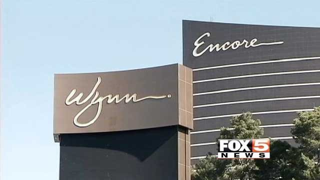 The signs from the Encore and Wynn are shown in an undated image. (File)
