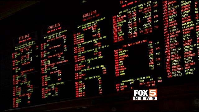 A sports book in Las Vegas is shown in an undated image. (File/FOX5)