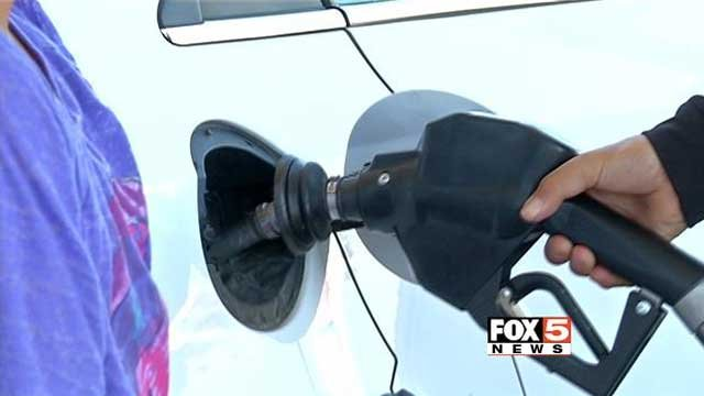 A driver fills up their tank at a Las Vegas-area gas station. (File/FOX5)