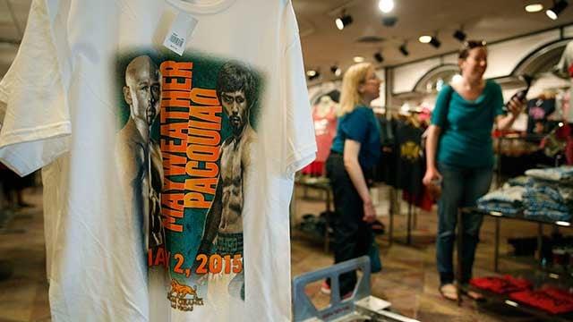 Vegas company scrambling to make mega fight merchandise for Mega motors las vegas