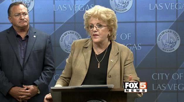 Las Vegas Mayor Carolyn Goodman discusses the Department of Energy's plan to ship nuclear waste to Nevada on Tuesday, May 5. (FOX5)