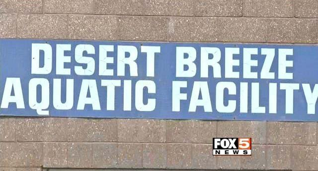 The exterior of Desert Breeze Aquatic Facility in Las Vegas appears in this image from Monday, May 11. (FOX5)