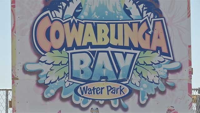 A sign at Cowabunga Bay is shown in an undated image. (File/FOX5)
