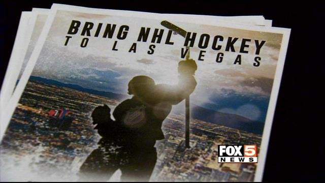A pamphlet promoting major league hockey in Las Vegas is seen in this undated image. (File/FOX5)