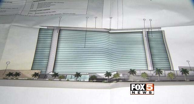 An early rendering of Alon Las Vegas, a resort planned for the north end of the Las Vegas Strip. (FOX5)