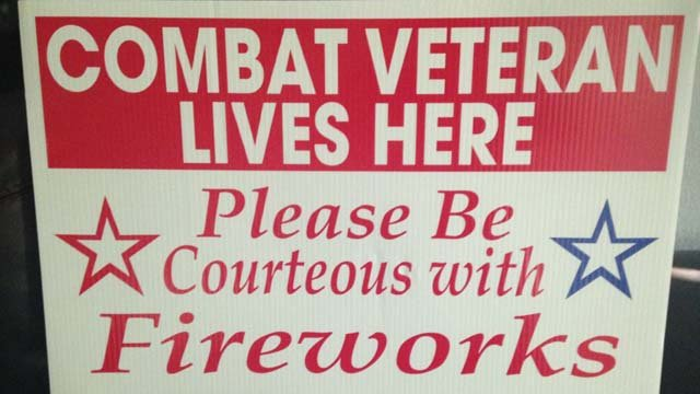 Vets with PTSD plead for fireworks courtesy
