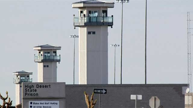 Guard towers appear above cell blocks at High Desert State Prison. (File/FOX5)