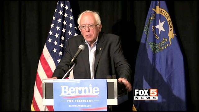 Democratic presidential candidate Sen. Bernie Sanders speaks at Luxor Las Vegas on Tuesday, Aug. 18. (File/FOX5)