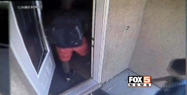 Surveillance still of a home invasion that occurred near Ann Road and Aliante Parkway in North Las Vegas. (FOX5)