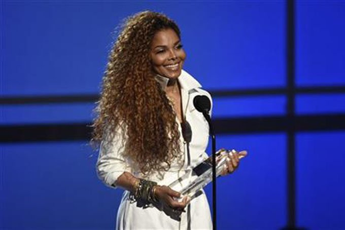 Janet Jackson accepts the ultimate icon: music dance visual award at the BET Awards at the Microsoft Theater on Sunday, June 28, 2015, in Los Angeles. (Photo by Chris Pizzello/Invision/AP)