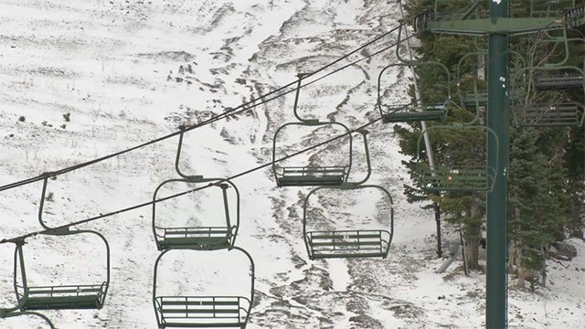 Ski lifts at Lee Canyon.